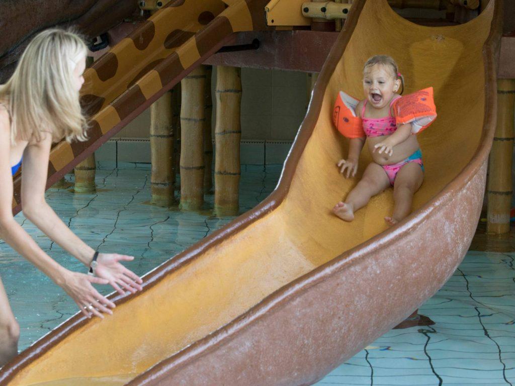 Toddler water slide at Beekse bergen