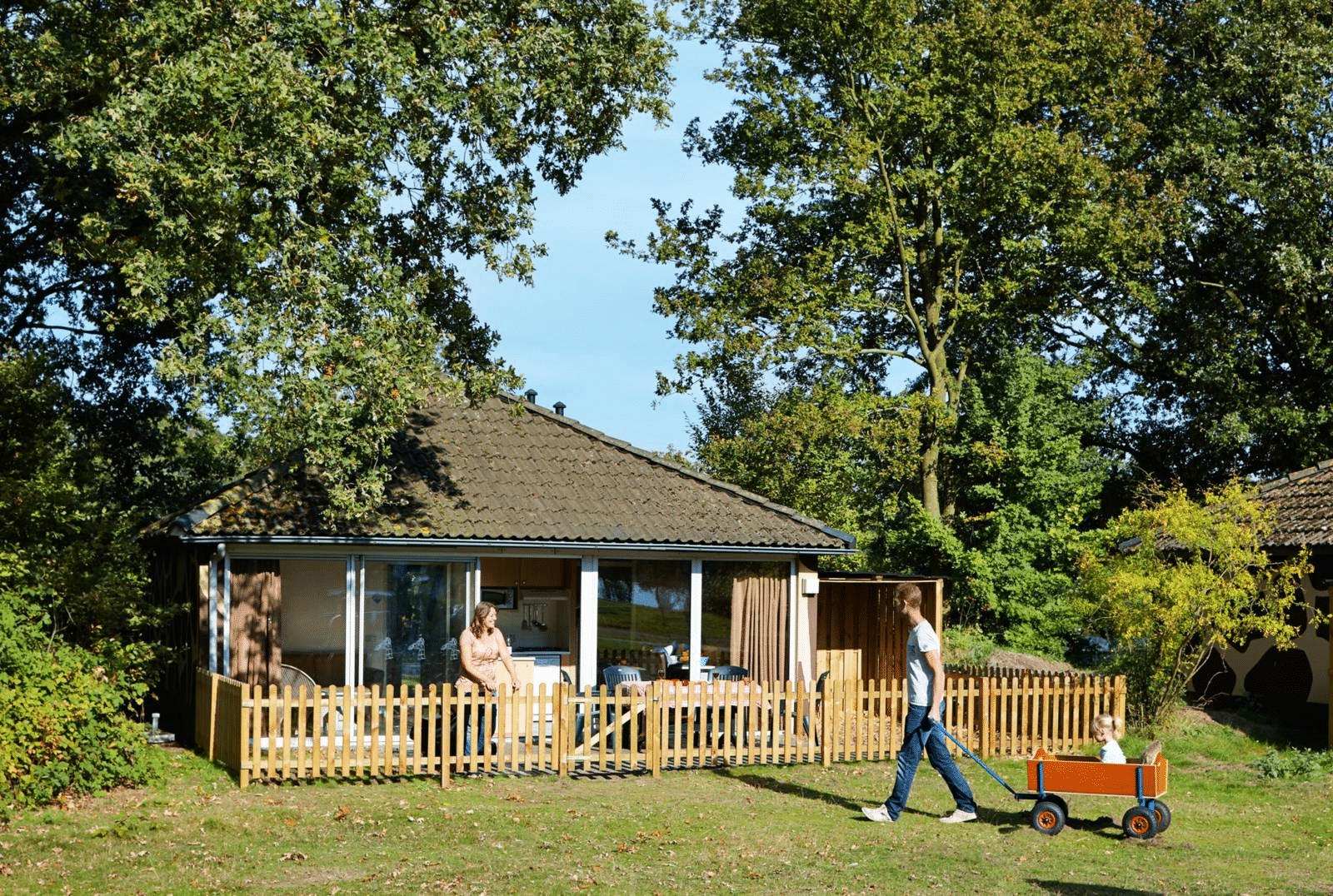 Kids jungalow exterior at Beekse Bergen