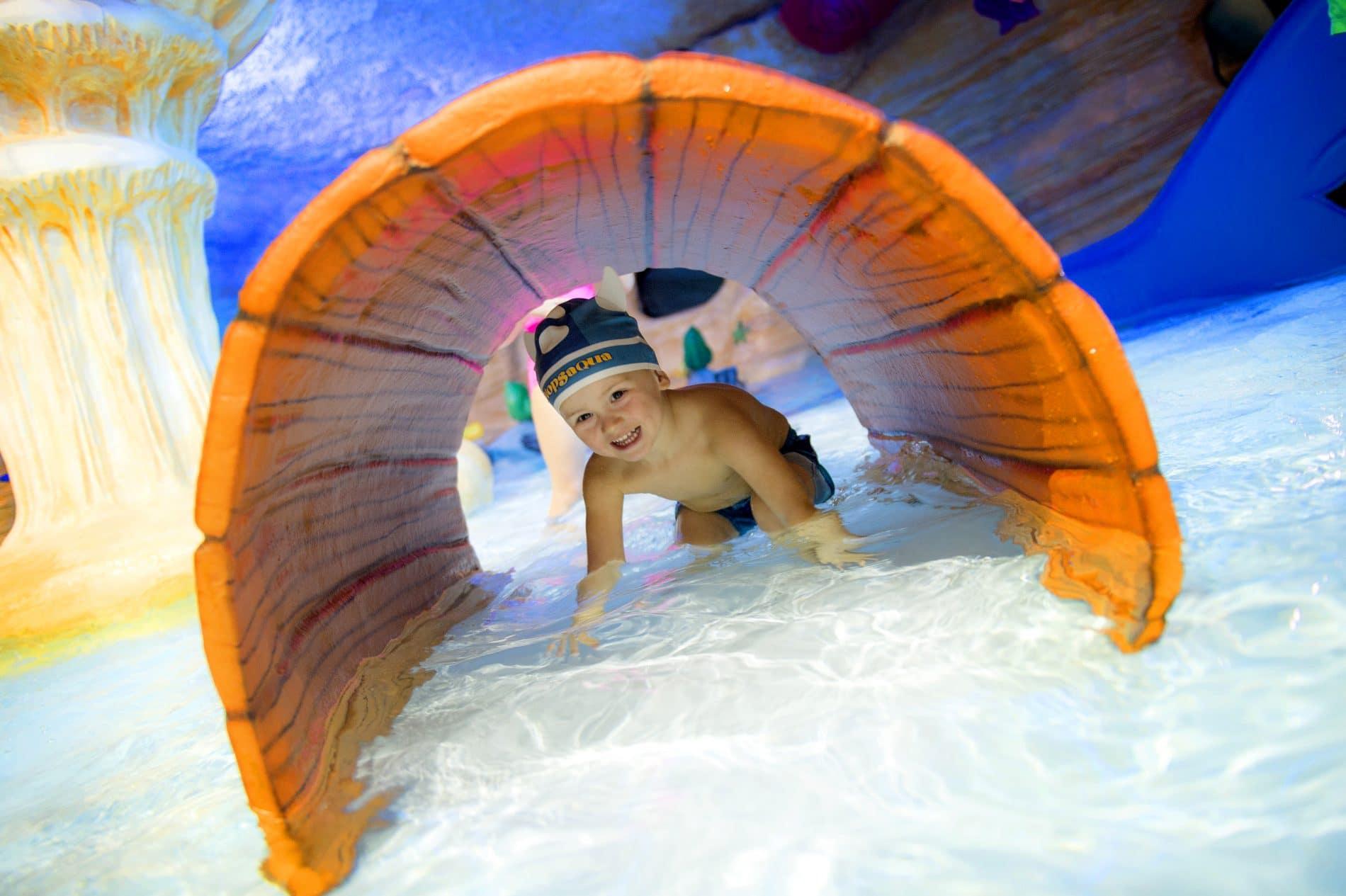 Toddler pool games at Plopsaqua