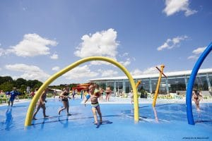 Splash area at Aquapark Lacs dEau dHeure