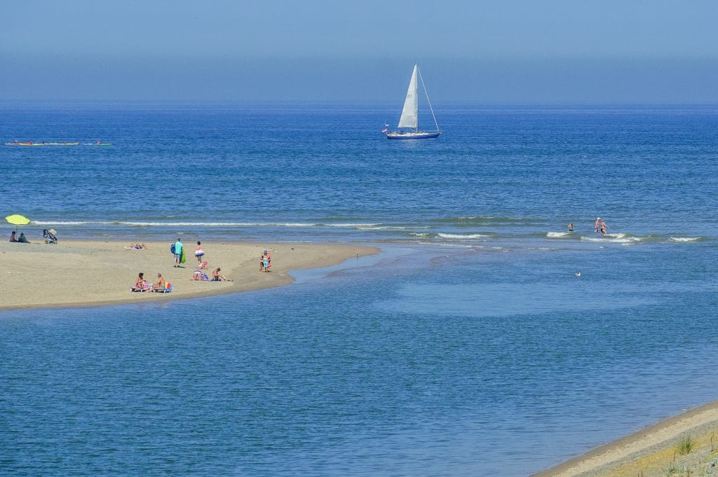 Beautiful stretch of beach