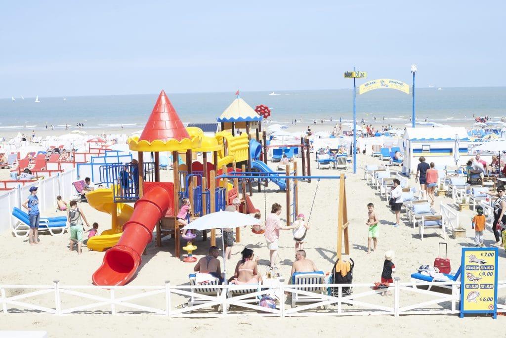 Blankenberg beach play area