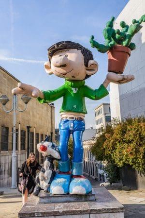 Comic hero statue in Brussels