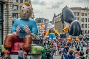 Comic Strip festival in Brussels