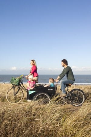 Cycling along the dunes