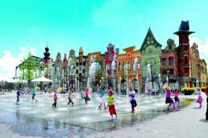 Dancing fountains at Plopsaland de Panne