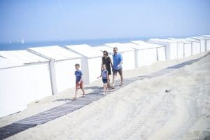 beach huts on the Belgian coast