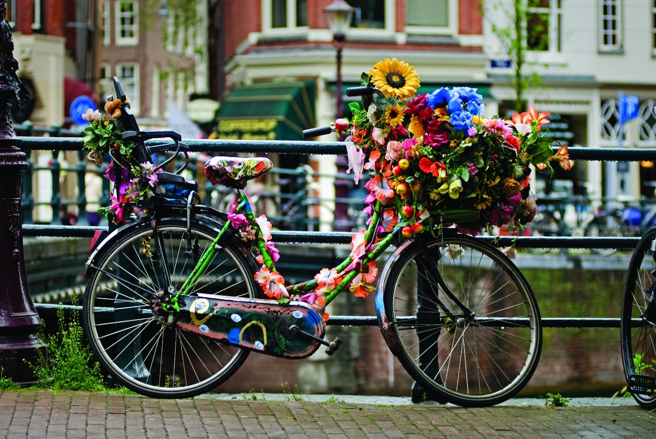 Decorated bike Amsterdam