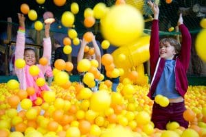 Giant ball pool at Plopsaland de Panne