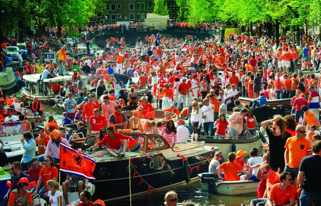 Amsterdam on Kings day