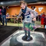 making giant bubbles at nemo science museum