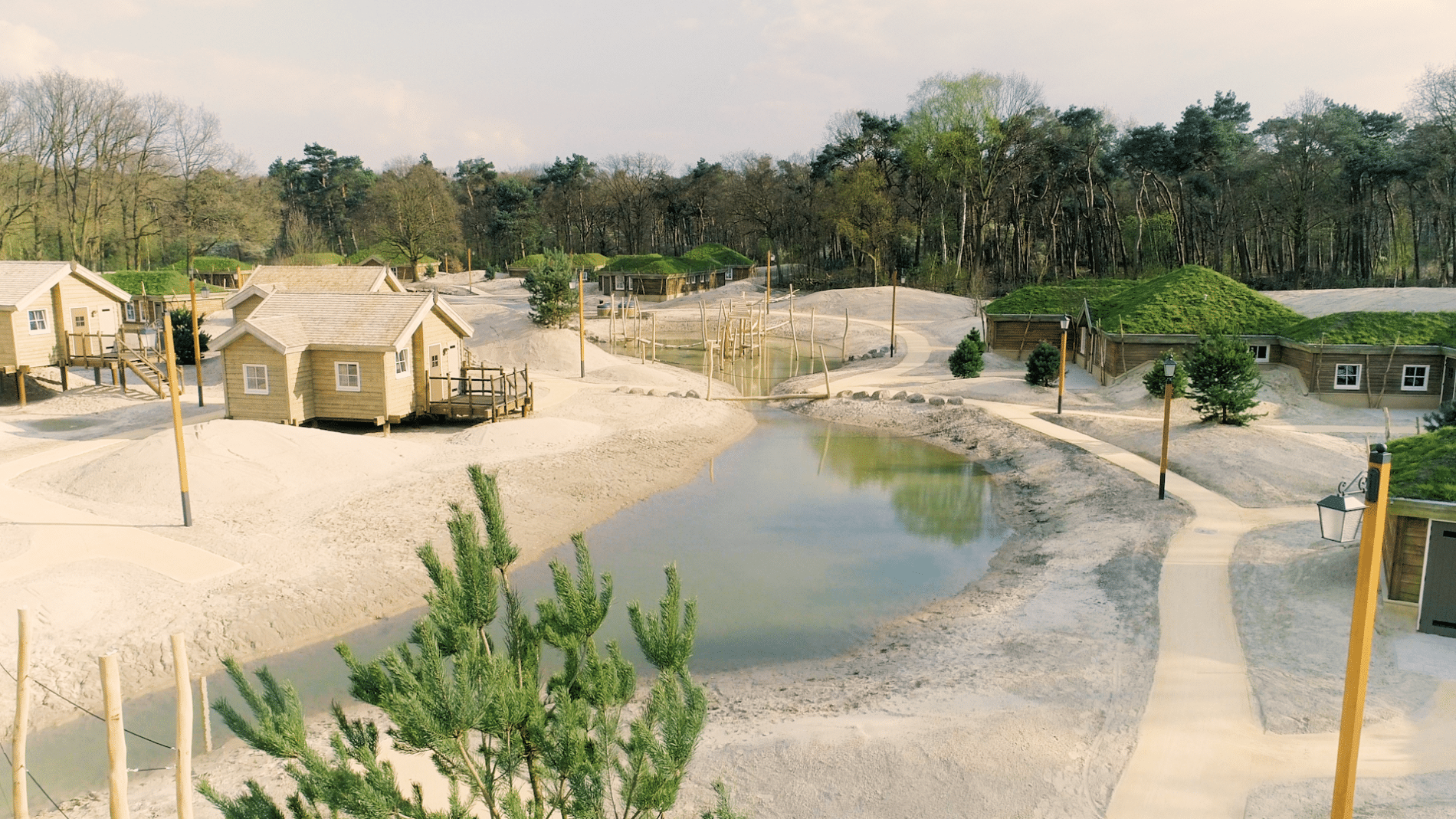 Efteling Loonsche Land accommodation within sandy dunes