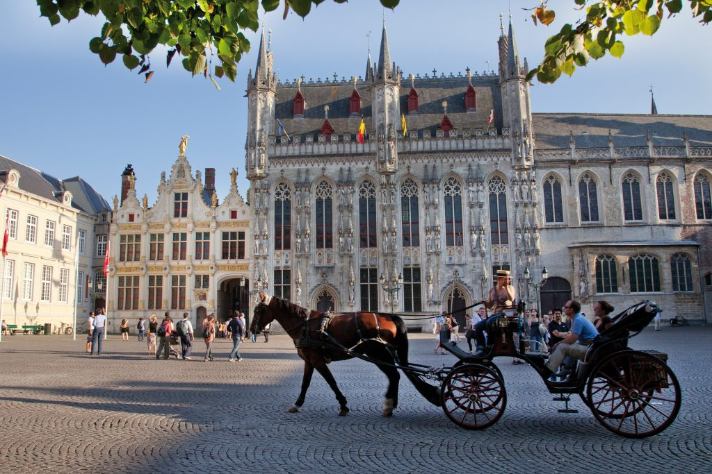 Horse and carriage ride in Bruges centre