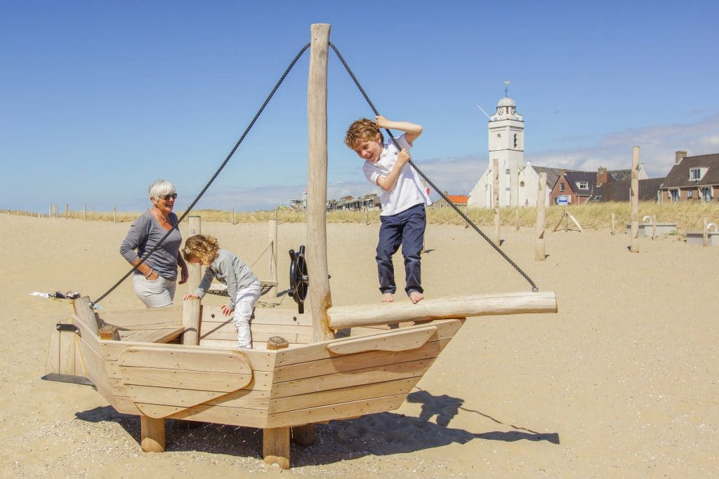 Playground on the beach