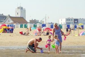 Playing at Katwijk beach