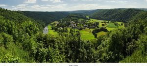 View over Rochehaut in the Ardennes