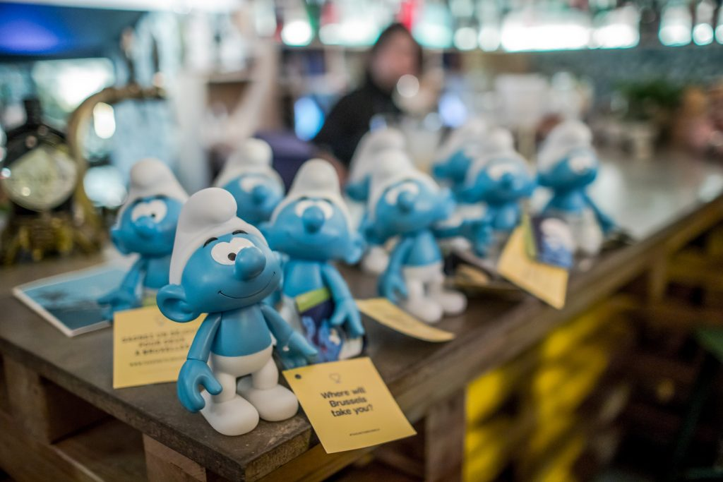 A Smurfs collection in Brussels