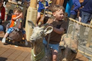 The animals ride at Plopsaland de Panne