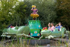 The frogs ride at Plopsaland de Panne