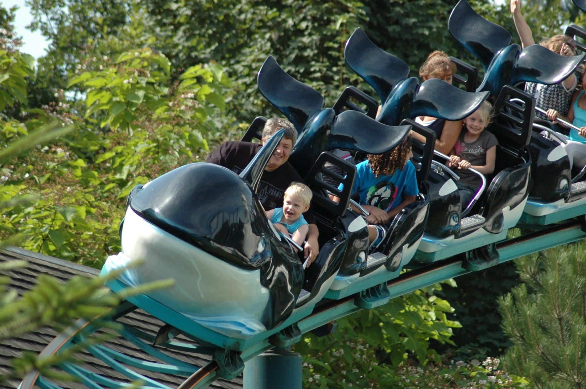 The Orca ride at Boudwijn sea park