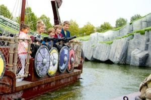 Wickie the battle ship ride at Plopsaland de Panne