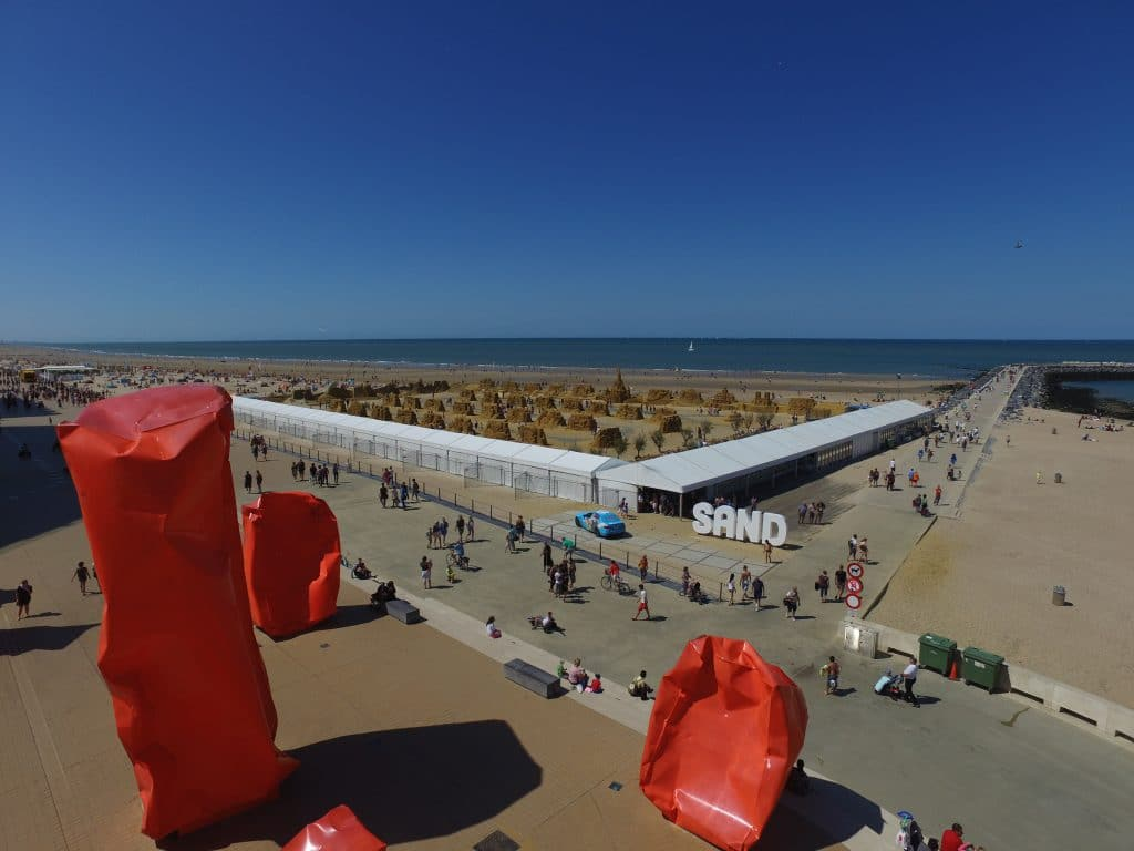 Overview Sand sculpting festival Ostend
