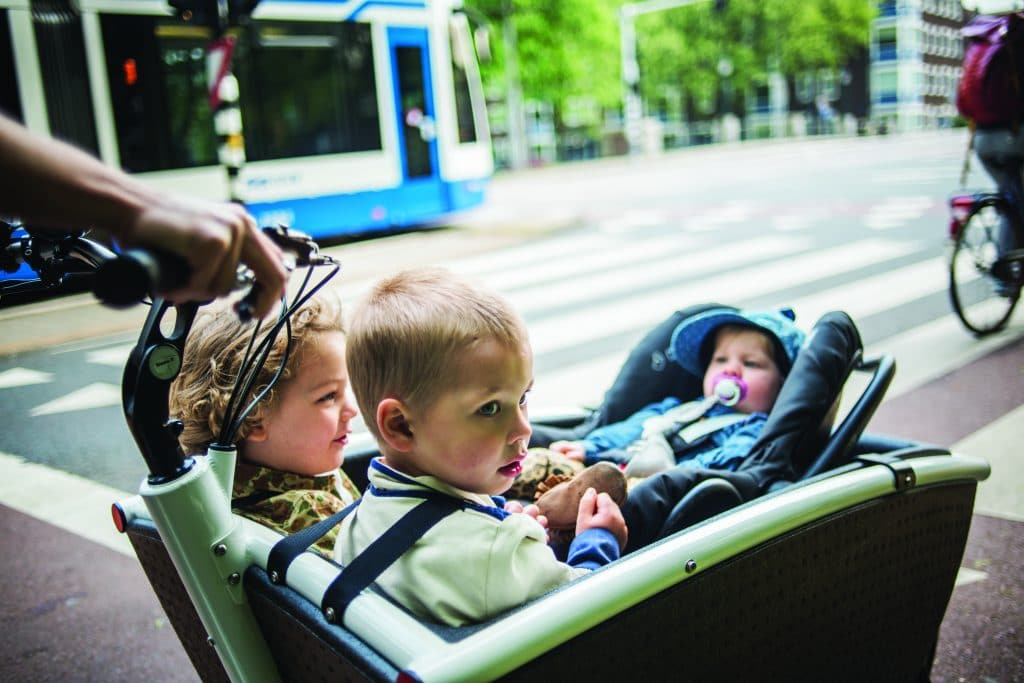 Baby and toddlers in Bakfiets