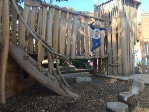 Having fun in the KinderKookKafe Playground