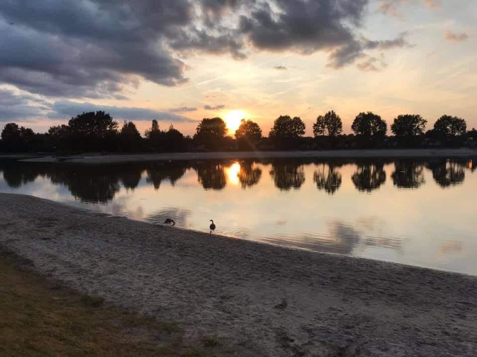 Hof van Saksen sunset
