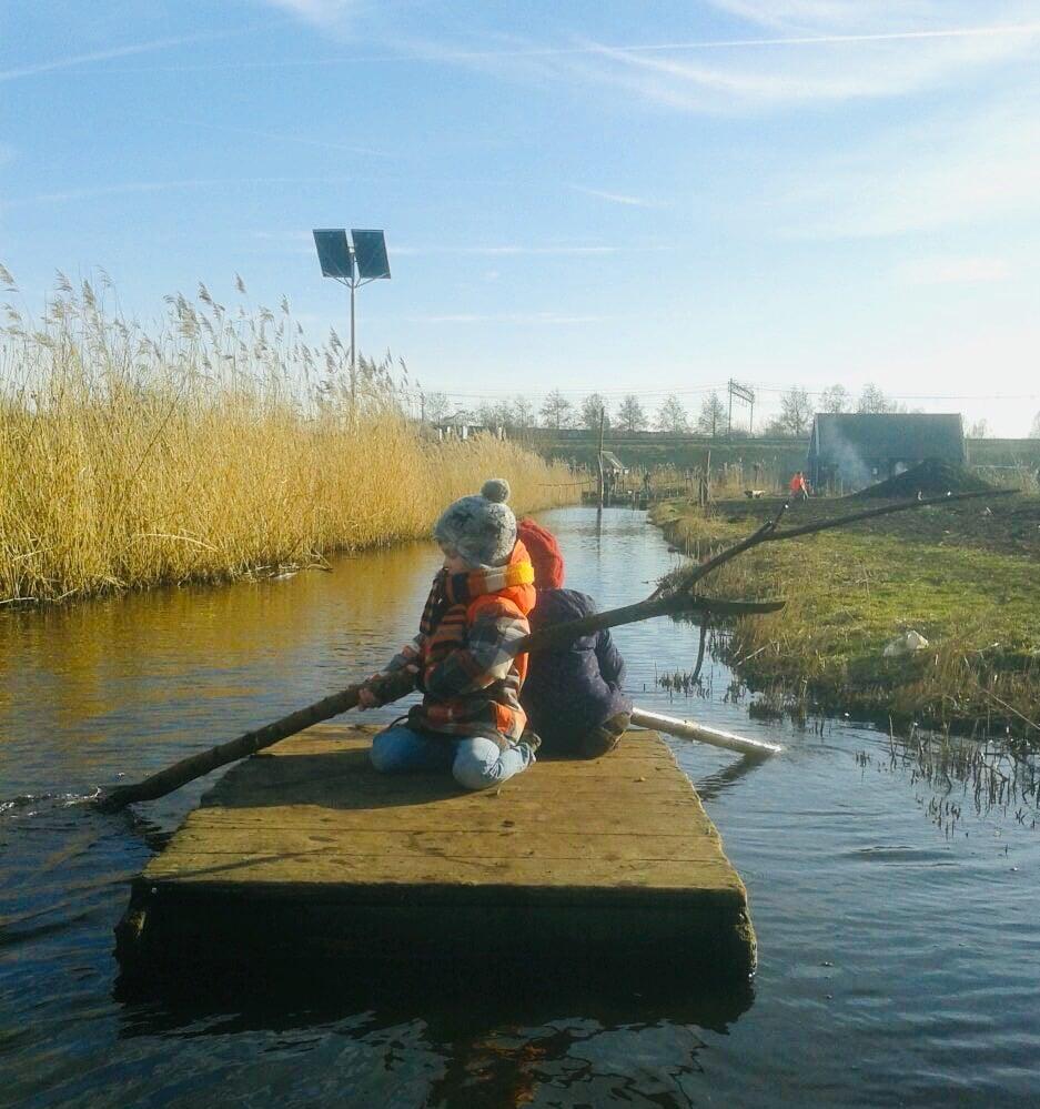 Children Enjoy Rafting