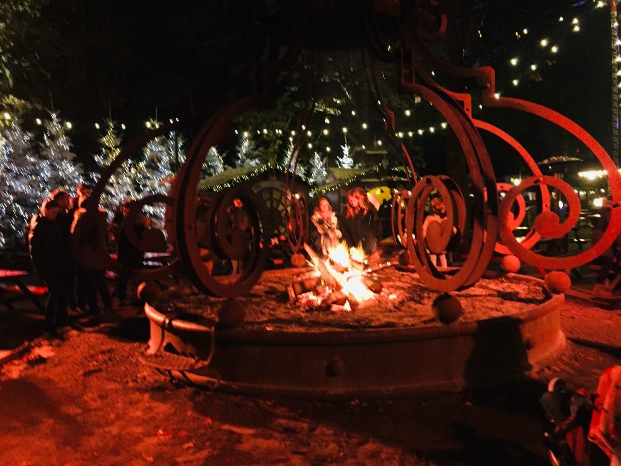 Winter Bonfires At Efteling