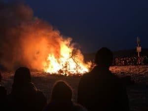 New Year Fire Nieuwvliet