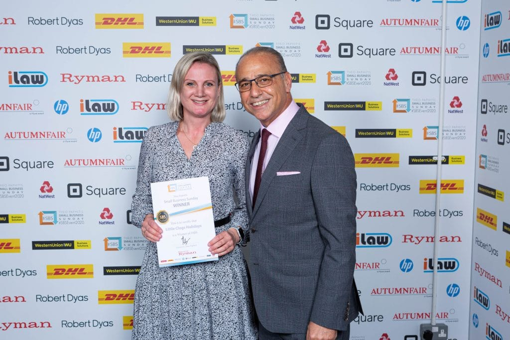 Laura Riley with Theo Paphitis